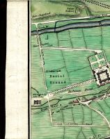 Phenix Park (Phoenix Park), Road From Chapclizod, Salute Battery, Conyngham Road, River Anna Liffey, Sarah Bridge, Island Bridge, St John's Well, Burial Ground, Royal Hospital, Kilmainham New Gaol, Gaolers House, Inchicore Road, Road From Naas, Old Gaol, Kilmainham, Kilmainham Lane, Circular Road, & Grand Canal