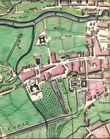 Montpeller Hill, Temple Street, Horse Square, Barracks, Royal Square, Phenix Park (Phoenix Park), Gate, Park Gate Street, Long Meadows, Barrack Street, Flood Street, Liffey Street, Sand Quay, Sliver Street, River Anna Liffey, Barrack Bridge, Slip, Stevens Lane, Stevens Hospital, Mill Race, Galway Walk, Cooks Lane, Watling Street, Ushers Island, Island Street, Bonham Street, Four Court Marshalsea, Mass Lane, Bow Bridger, Bow Lane, St Patricks Hospital, Mt Brown, James's Street, Workhouse, Bason Lane (Basin Lane), City Bason (City Basin), Fountain, St James's Church, Soldiers Hospital, Echlin Lane, Canal Place, Canal Harbour, Portland Street, Market House, Robert Street, Ransford Street, Cherrytree Lane, James's Gate, Thomas Street, Crane Lane, Belview Lane, Taylors Lane, Cryllis Yard, Grand Canal, City Water Course, Marrow Bone Lane, Tenter Fields, Cork Street, Dolphins Barn Lane, & Love Lane