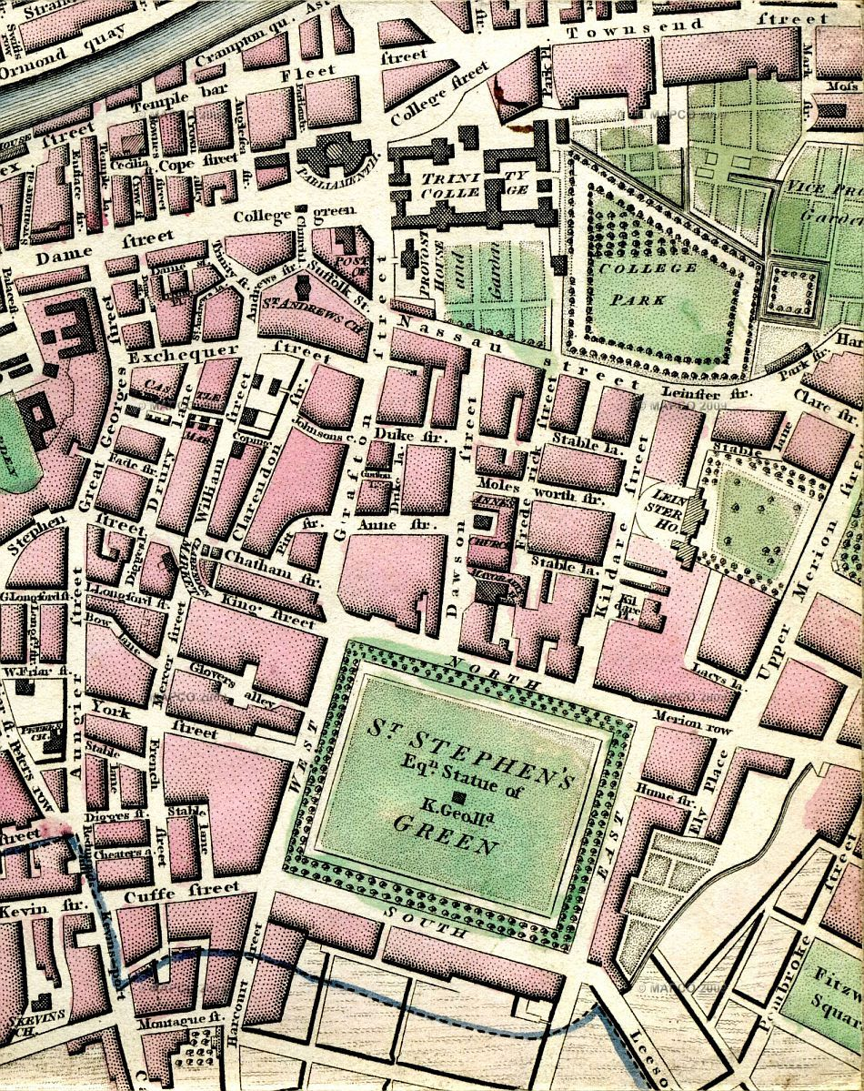 Map Of Dublin - Old maps of dublin