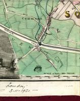 Old Circular Road, City Water Course, Commons, Dolphins Barn Lane, Dolphins Barn, Chapel, South Division, Love Lane, Brown Street, Grand Canal, Harberton Bridge, Camac Bridge, Camac Place, New Circular Road, Road From Cromlin, Quarry, New Custom House, & Map Scale